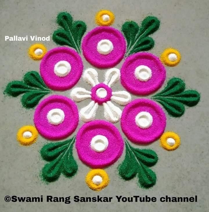 rangoli design flower pallavi vinod