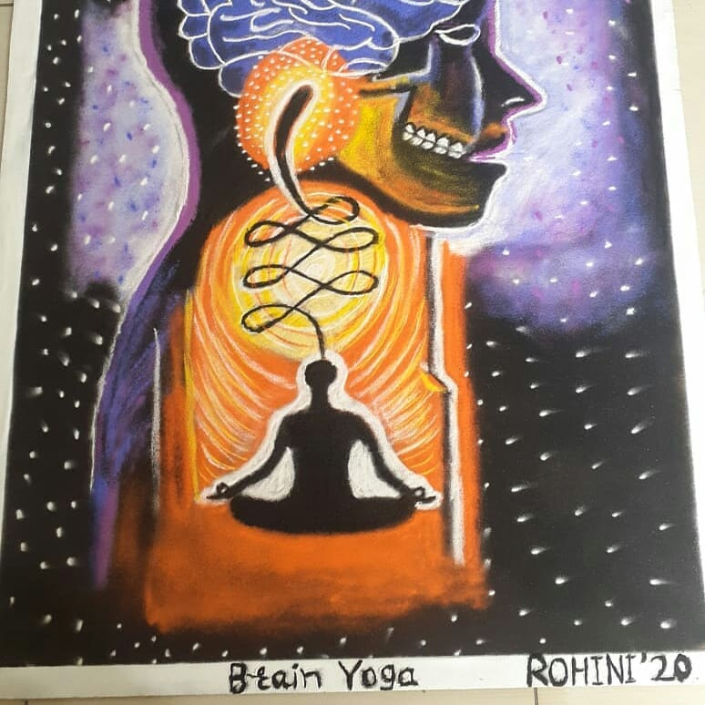 rangoli design international yoga day brain yoga rohini