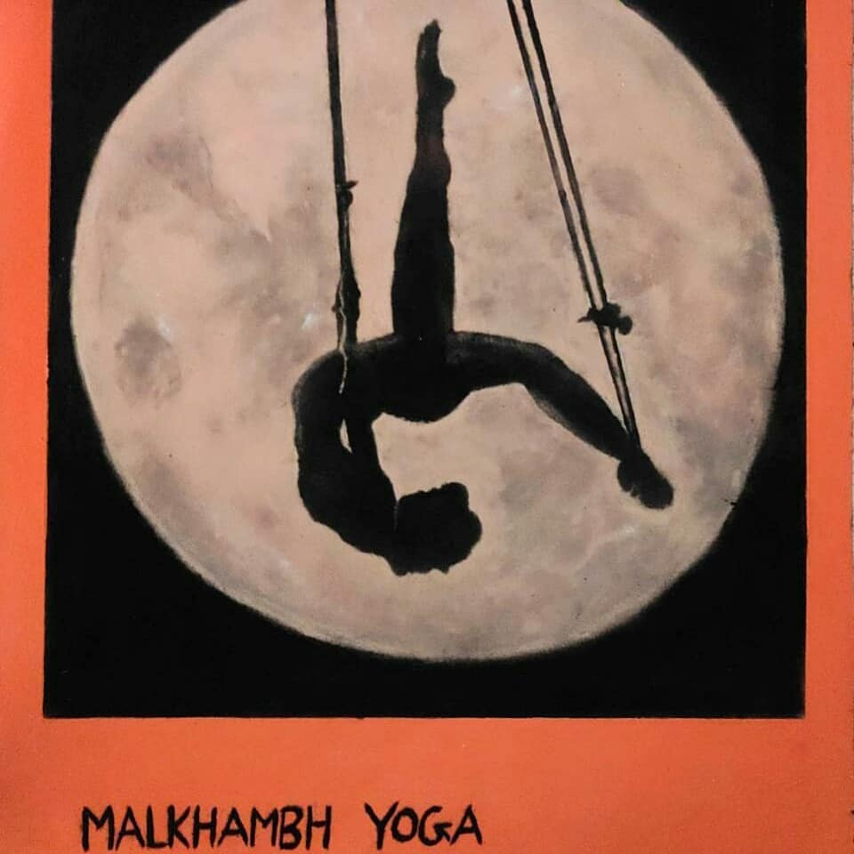 rangoli design international yoga day malkhambh
