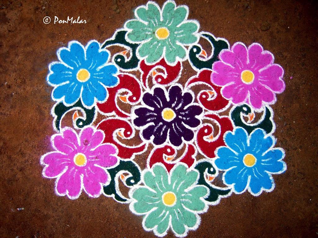 1 aripan rangoli design by ponmalar