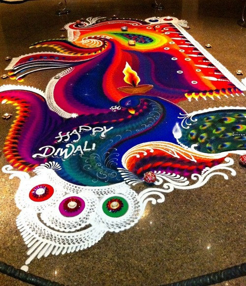 1 colorful rangoli design