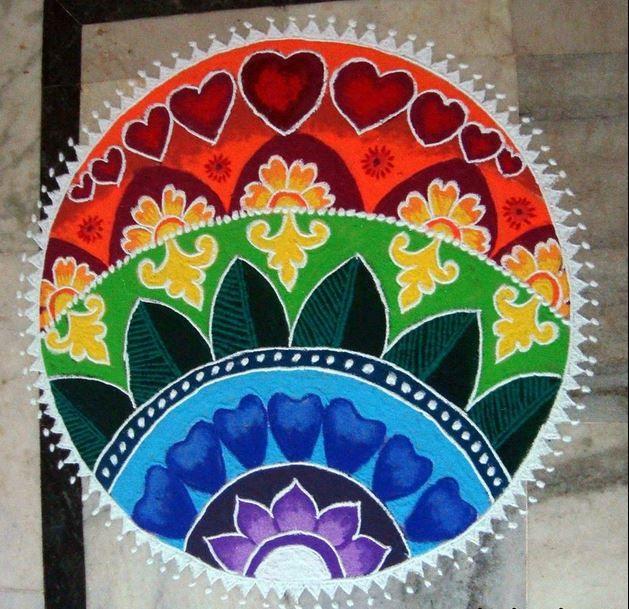 1 freehand rangoli design