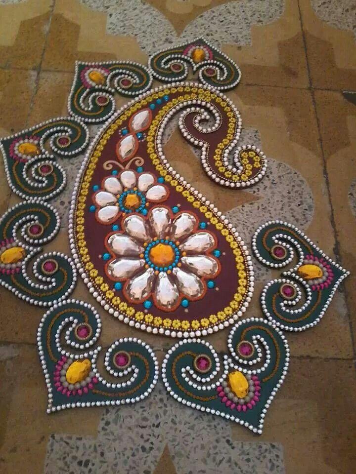 1 kundan rangoli design by anupa ajgaonkar