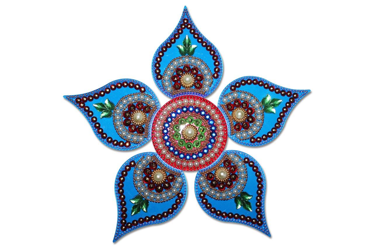 1 kundan rangoli design by neeta