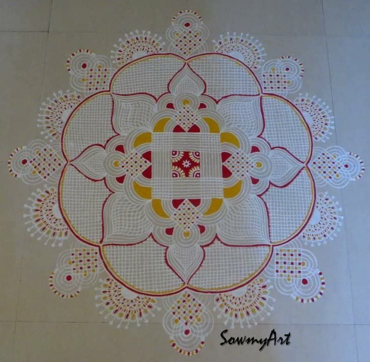 1 margali kolam design by sowmyart