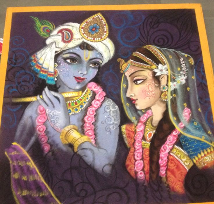 1 portrait rangoli design radha krishna byharin dalal