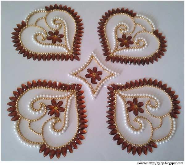 10 kundan rangoli design by neeta