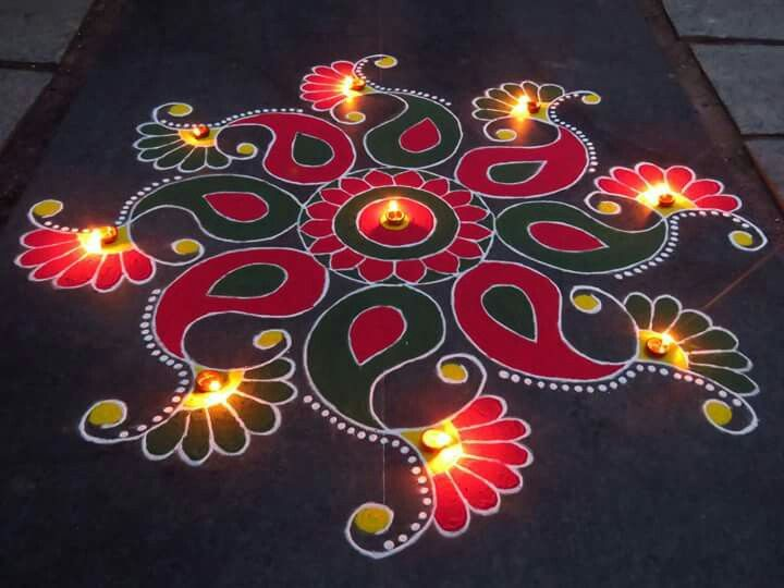 10 mdiwali rangoli design by kavitha nandani