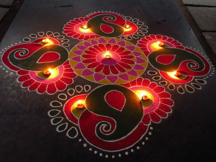 11 diwali rangoli design by kavitha nandani