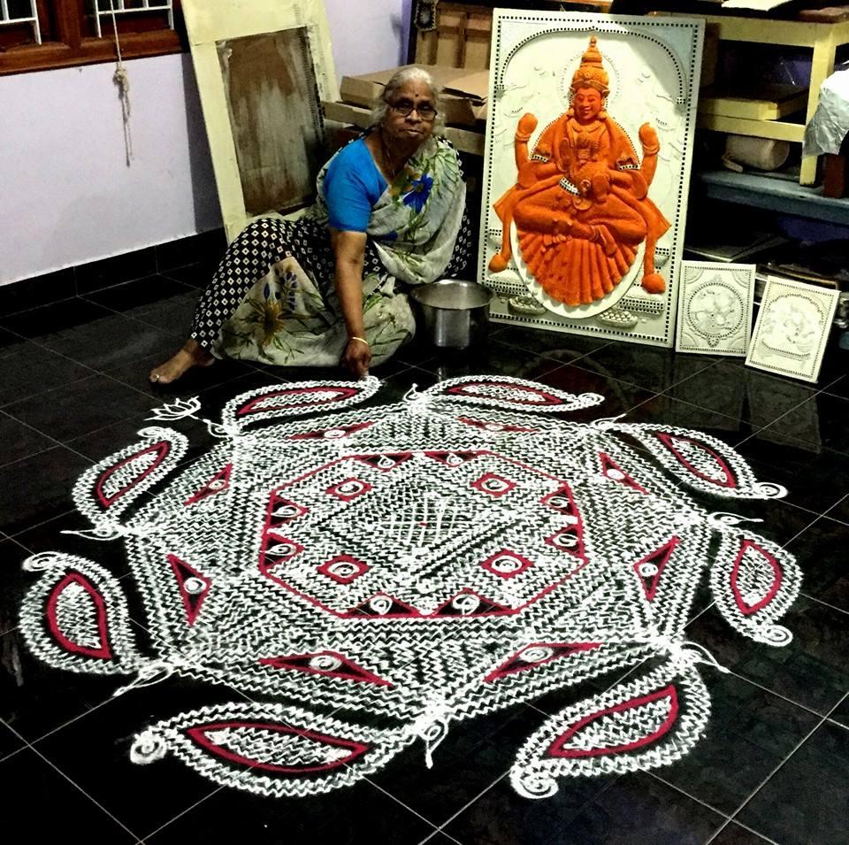 margazhi kolam design by saroja krishnamoorthy -  11
