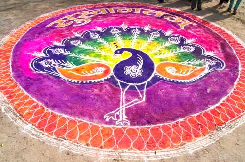 11 peacock rangoli design by asha diti