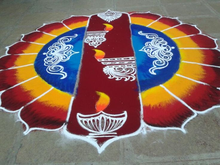 11 sanskar bharti rangoli design by shireen kauser