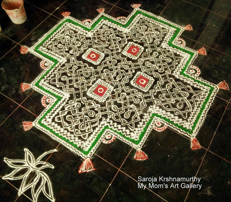 sikku kolam design by saroja krishnamoorthy -  11