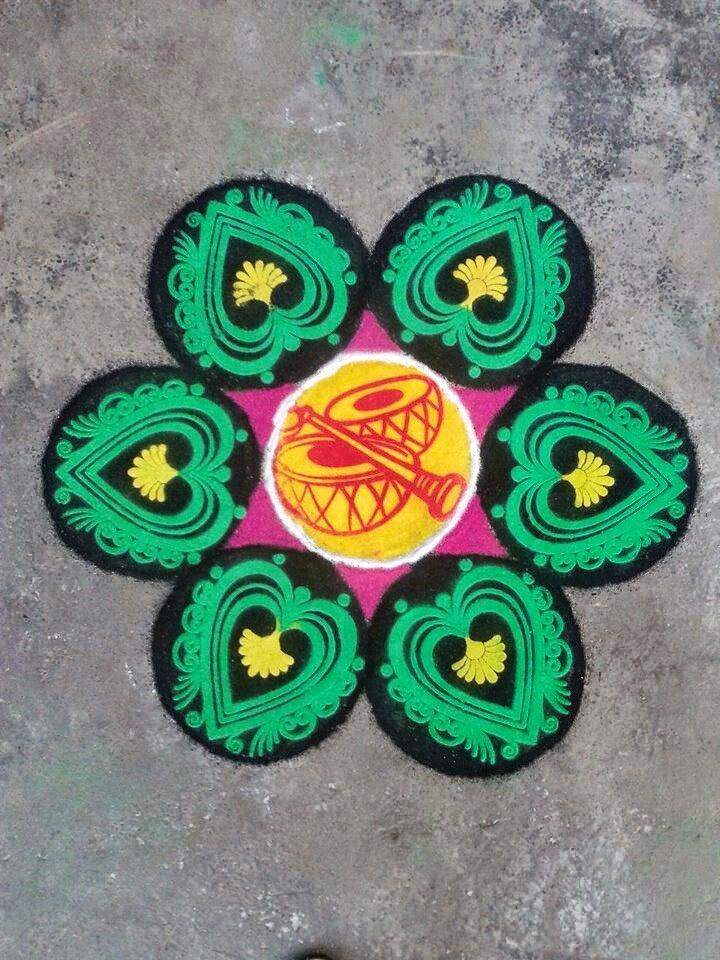 11 stencil rangoli design