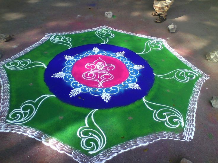 13 sanskar bharti rangoli design by shireen kauser