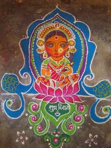 14 diwali rangoli design by shweta punekar