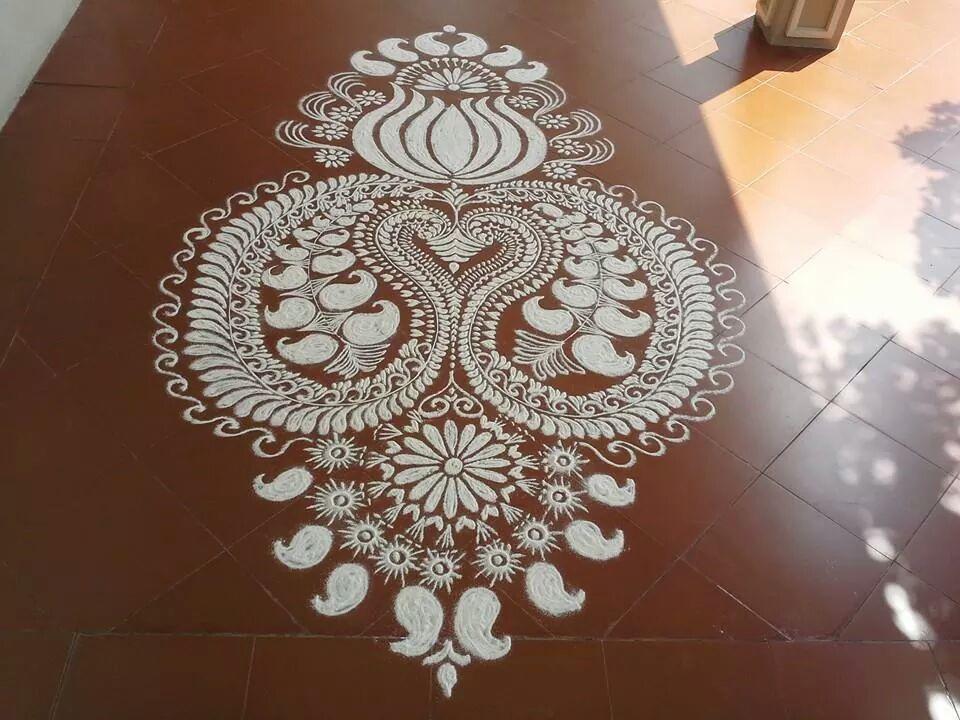 14 floral alpana design