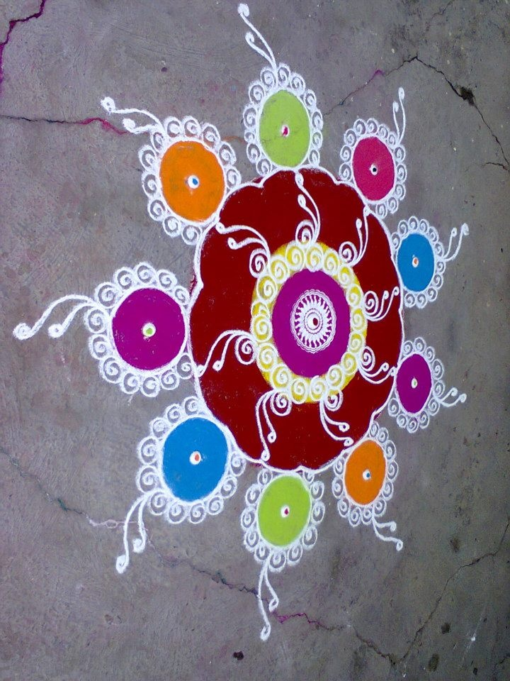 15 sanskar bharti rangoli design by shireen kauser