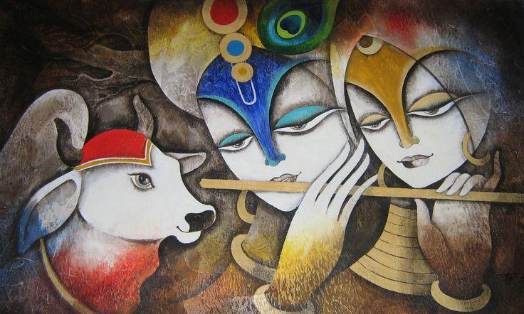 17 krishna portrait rangoli design by homemakeoverin