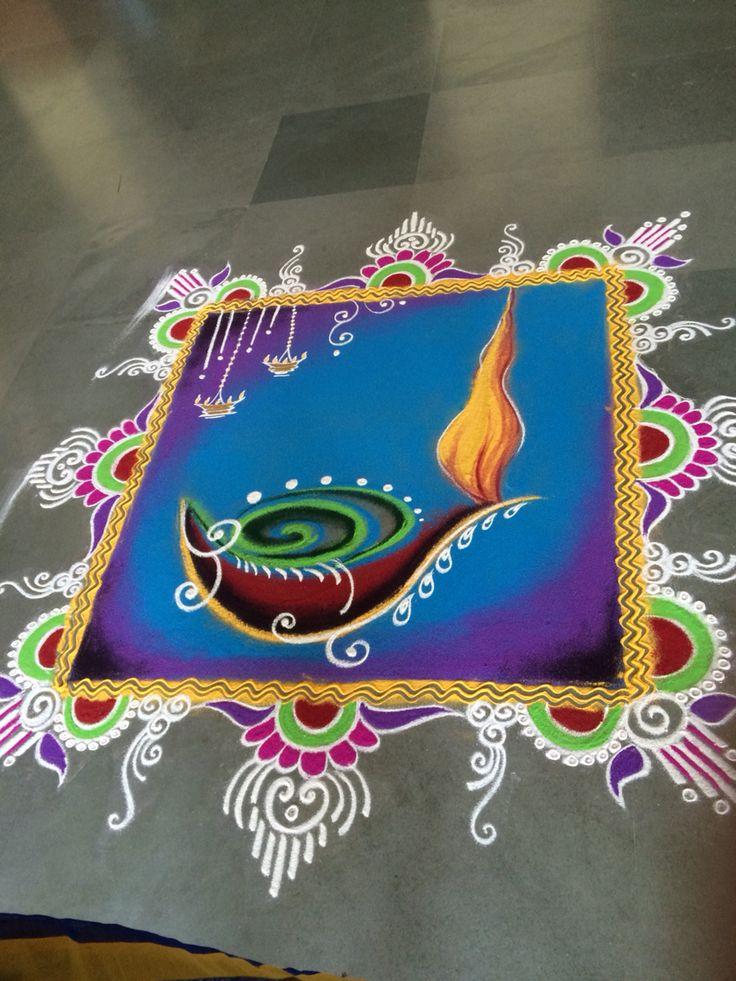 diwali diya rangoli design anjali shende -  2