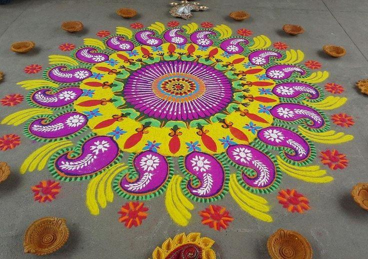 2 rangoli design by shweta duwa