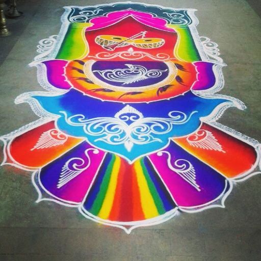 2 sanskar bharti rangoli design by shireen kauser