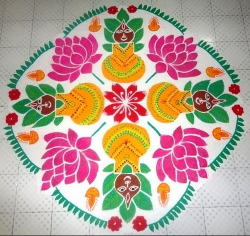 2 varalakshmi mandala rangoli design