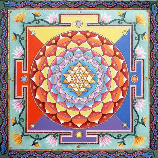 21 sri yantra mandala rangoli design by homemakeoverin