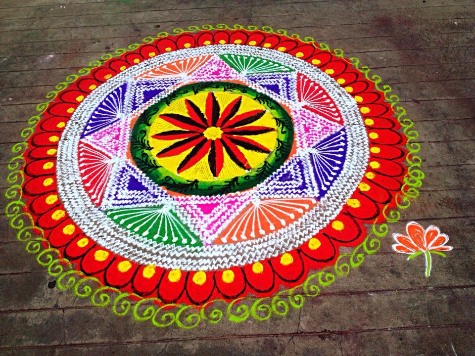 23 colourful kolam design by mangalam srinivasan