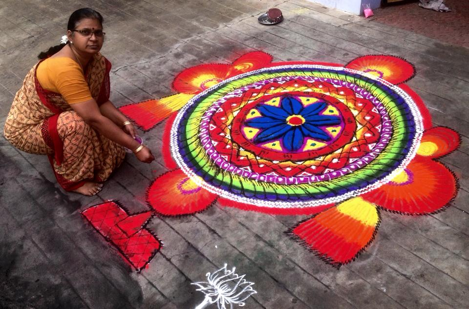 25 colourful margazhi kolam design by mangalam srinivasan