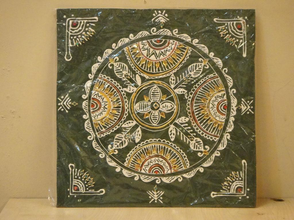 3 canvas mandana rangoli design