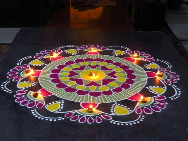 Happy New Year Rangoli Design Gallery 74
