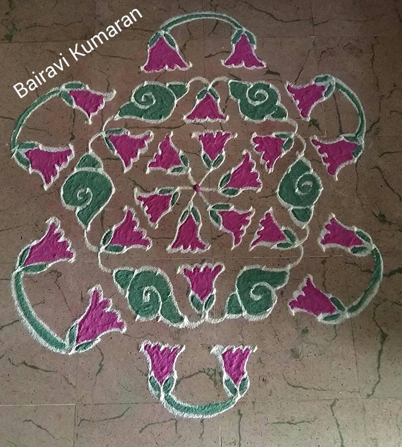 margali kolam design by bairavi kumaran -  3