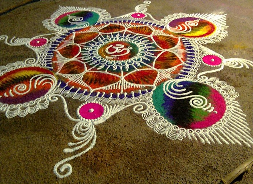 sanskar bharti rangoli design by homemakeoverin -  3