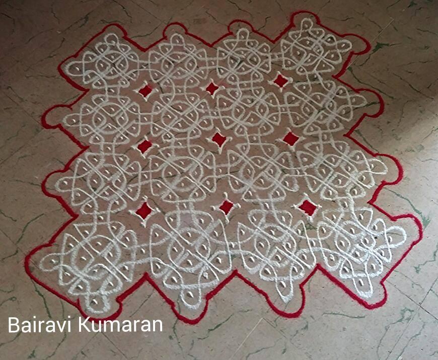 sikku kolam design by bairavi kumaran -  3