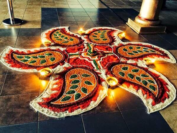 4 diwali rangoli design by aniket patel