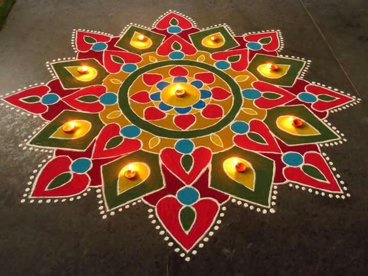 4 diwali rangoli design by kavitha nandani