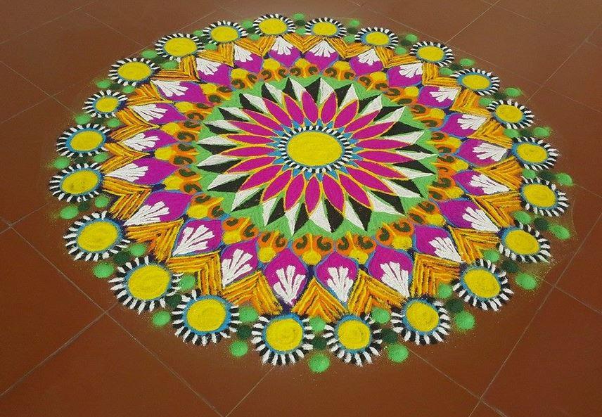 4 freehand rangoli design by homemakeoverin