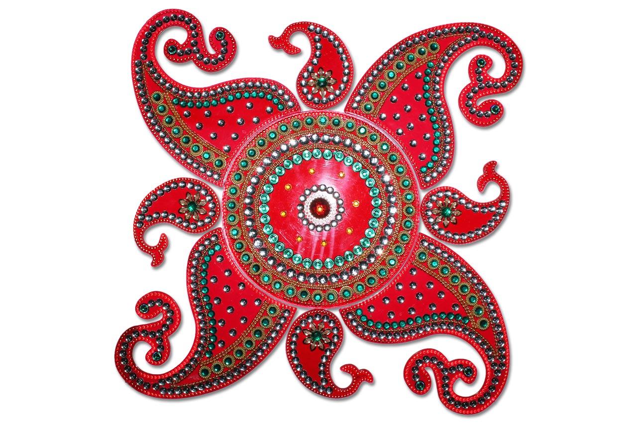 4 kundan rangoli design by neeta