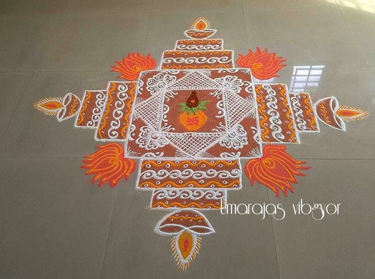 4 mandala rangoli design by umarajas vibgor