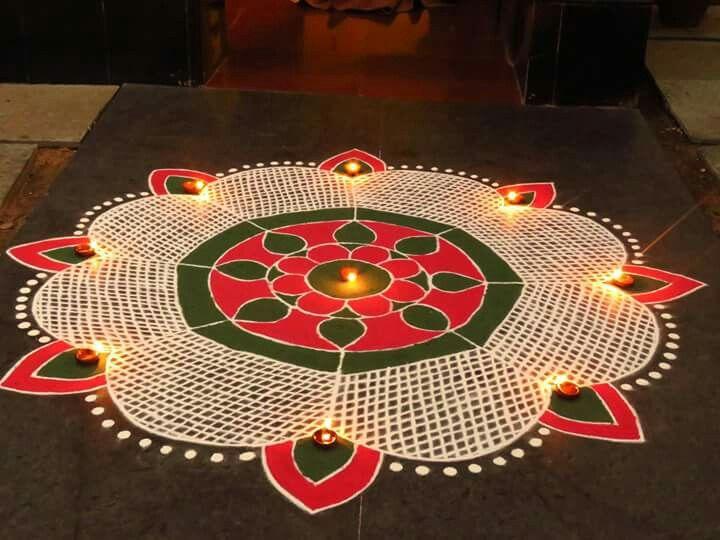 5 diwali rangoli design by kavitha nandani