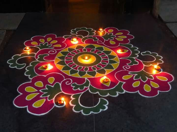 5 diwali rangoli design by nupur saxena