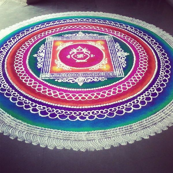 5 sanskar bharti rangoli design by shireen kauser
