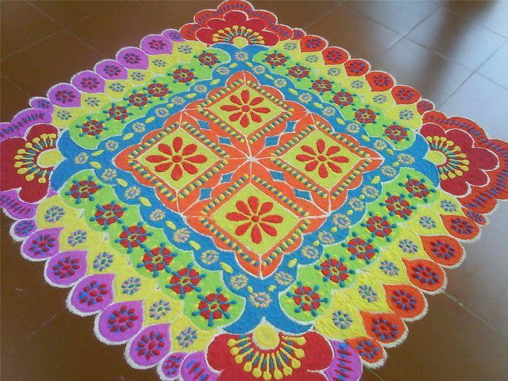 varalakshmi mandala rangoli design
