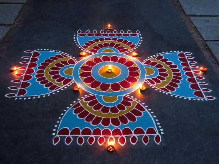 6 diwali rangoli design by kavitha nandani