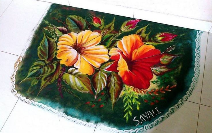 flower rangoli design -  6