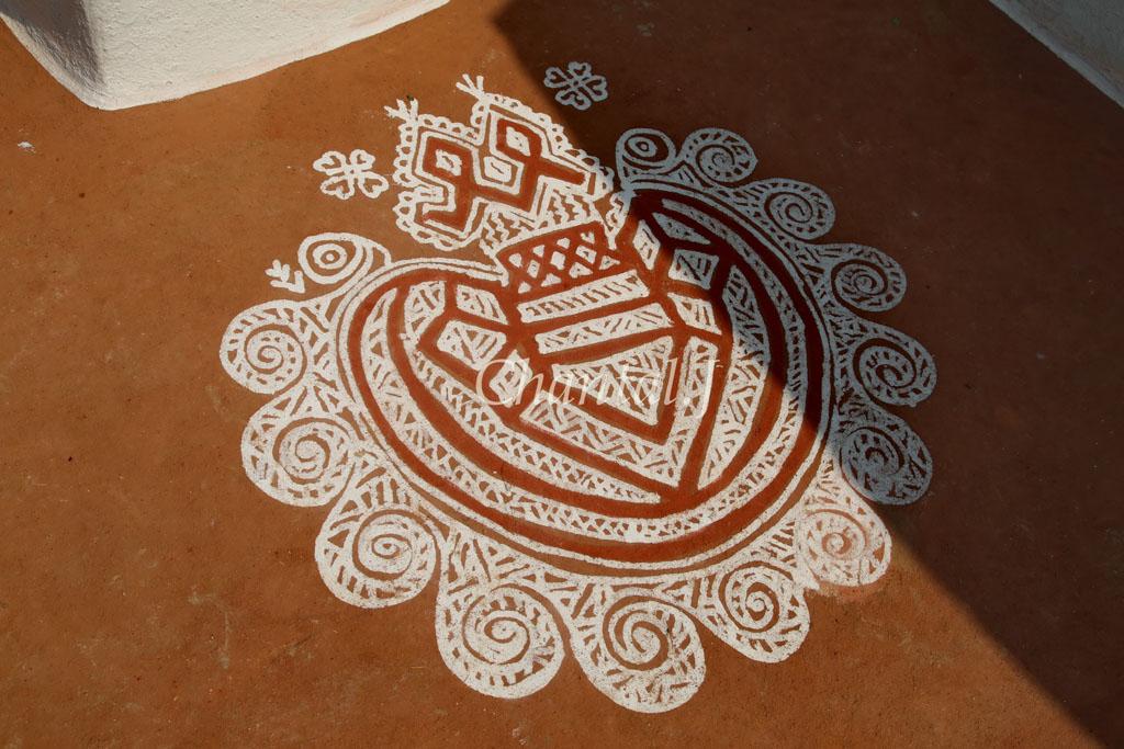 6 mandana rangoli design by jumel chantel