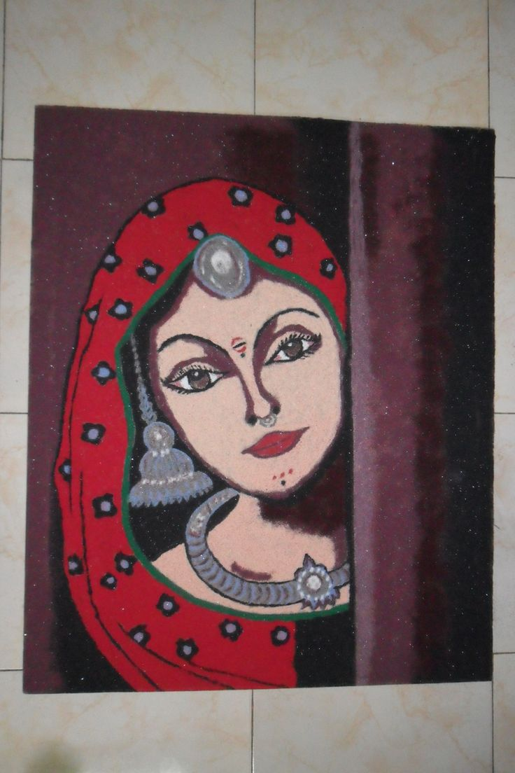 6 portrait rangoli design by niki manan