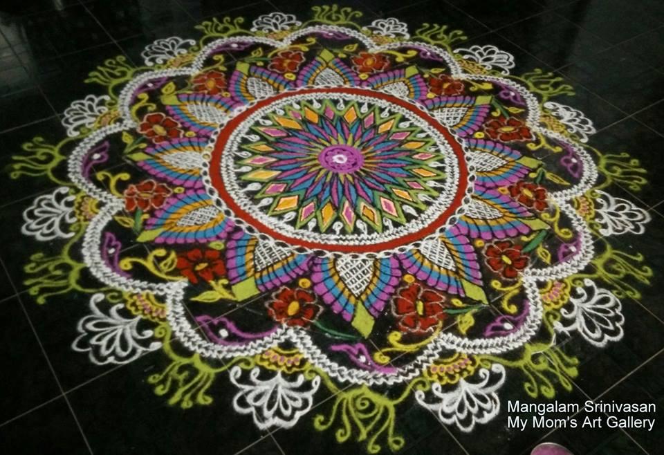 7 colourful margazhi kolam design by mangalam srinivasan