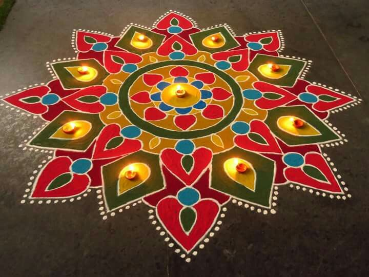 7 diwali rangoli design